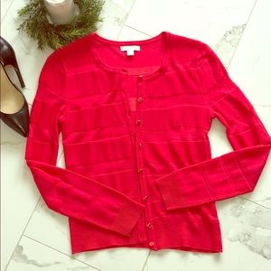 Bright pink New York and Co cardigan, XS